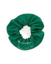 Balenciaga - Green Chouchou Leather Bracelet - Lyst