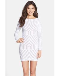 Dress the Population | White Lola Sequin Body-con Dress | Lyst