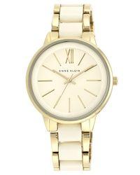 Anne Klein | Metallic Round Bracelet Watch | Lyst
