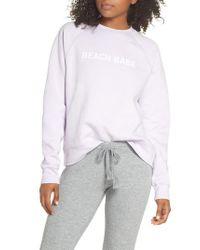 BRUNETTE the Label - Multicolor Beach Babe Middle Sister Crewneck Sweatshirt - Lyst