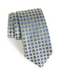 Nordstrom Blue Criss Cross Geometric Silk Tie for men
