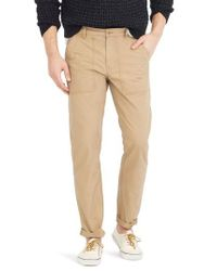 J.Crew - Natural J.crew 770 Straight Fit Ripstop Camp Pants for Men - Lyst