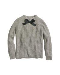 J.Crew - Gray Gayle Tie Neck Sweater - Lyst