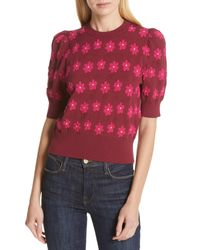 Kate Spade Red Marker Floral Sweater