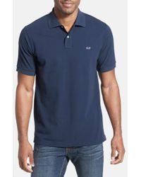 Vineyard Vines | Blue 'classic' Pique Knit Polo for Men | Lyst