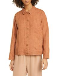 Eileen Fisher Multicolor Collared Jacket