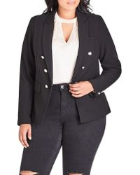 City Chic Black Military Jacket