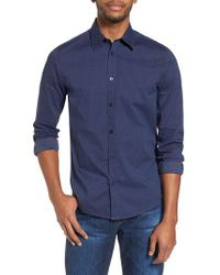 Ben Sherman - Blue Textured Shirt for Men - Lyst