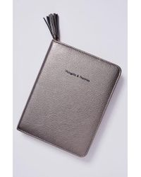 Anthropologie - Gray Idiom Leather Journal - Lyst