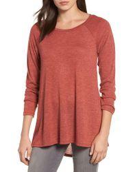 Caslon | Multicolor Caslon High/low Tunic Sweatshirt | Lyst