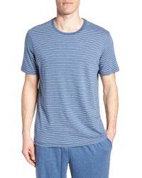 Daniel Buchler - Blue Stripe Pima Cotton & Modal Crewneck T-shirt for Men - Lyst