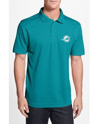 Cutter & Buck | Blue 'miami Dolphins - Genre' Drytec Moisture Wicking Polo for Men | Lyst