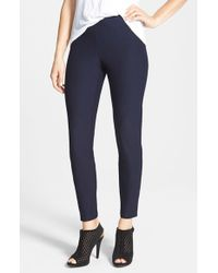 Eileen Fisher | Blue Stretch Crepe Ankle Pants | Lyst