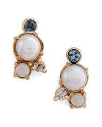 Mociun | White Pearl, Aquamarine | Lyst