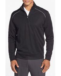 Cutter & Buck | Black 'ridge' Weathertec Wind & Water Resistant Pullover for Men | Lyst