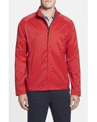 Cutter & Buck   Red 'blakely' Weathertec Wind & Water Resistant Full Zip Jacket for Men   Lyst