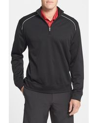 Cutter & Buck | Red 'weathertec Ridge' Water Repellant Half Zip Jacket for Men | Lyst