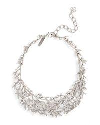 Oscar de la Renta - Metallic Bib Necklace - Lyst