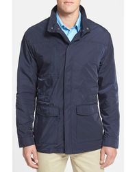 Cutter & Buck | Blue 'weathertec Birch Bay' Water Resistant Jacket for Men | Lyst