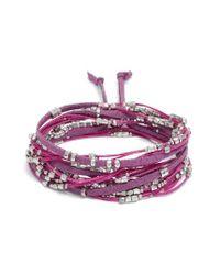 Serefina - Purple Convertible Wrap Bracelet - Lyst