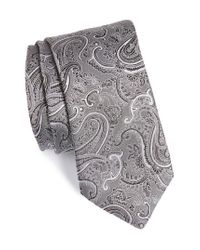 Calibrate   Black Floating Paisley Silk Tie for Men   Lyst