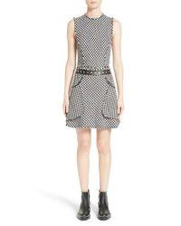 Alexander Wang - Black Check Tweed Dress - Lyst