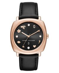 Marc Jacobs | Multicolor Marc Jacobs Mandy Leather Strap Watch | Lyst