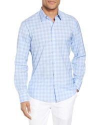 Zachary Prell - Blue Salamone Plaid Sport Shirt for Men - Lyst