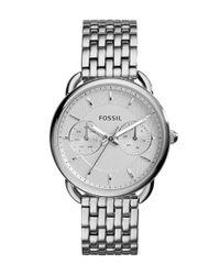 Fossil | Metallic 'tailor' Multifunction Bracelet Watch | Lyst