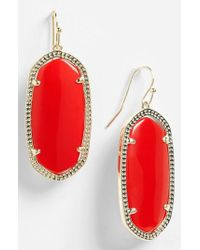 Kendra Scott - Red 'elle' Drop Earrings - Lyst