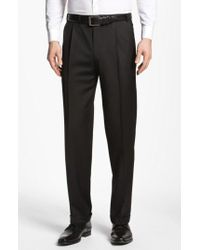 Canali Black Pleated Trousers for men
