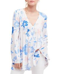 Free People - White Bella Print Tunic - Lyst