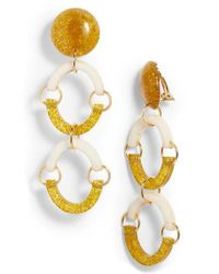 Lele Sadoughi - Metallic Confetti Rainbow Arch Clip Drop Earrings - Lyst