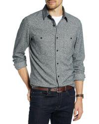 Nordstrom Black 1901 Trim Fit Workwear Flannel Sport Shirt for men