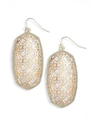 Kendra Scott | Metallic Danielle Large Openwork Statement Earrings | Lyst