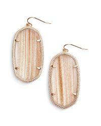 Kendra Scott   Metallic 'danielle - Large' Oval Statement Earrings   Lyst