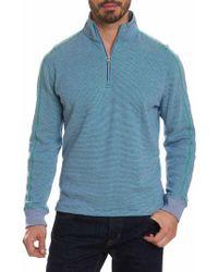 Robert Graham - Blue Easy Rider Quarter Zip Pullover for Men - Lyst