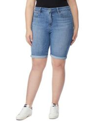 REBEL WILSON X ANGELS Blue The Cruz Skinny Bermuda Shorts