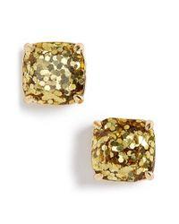 Kate Spade | Metallic Glitter Stud Earrings | Lyst