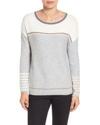 Caslon | Gray Caslon Button Back Sweater | Lyst