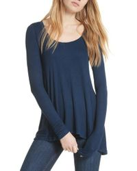 Free People - Blue We The Free By January Tee - Lyst