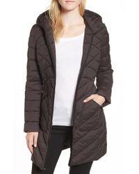 Bernardo - Packable Hooded Down & Primaloft Walker Jacket, Black - Lyst