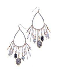 Nakamol - Gray Stone & Star Charm Earrings - Lyst