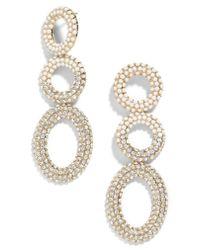 BaubleBar - White Mimi Tiered Drop Earrings - Lyst