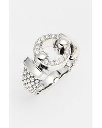 Lagos - Metallic 'enso - Circle Game' Diamond Caviar Ring - Lyst
