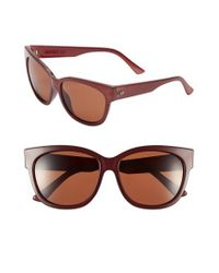 Electric | Black 'danger Cat' 58mm Retro Sunglasses - Smokey Crimson/ Rose for Men | Lyst