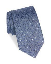 John Varvatos - Blue Leaves Silk Tie for Men - Lyst