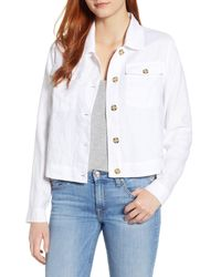 Tommy Bahama White Two Palms Crop Jacket