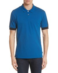 PS by Paul Smith Blue Colorblock Jersey Polo for men