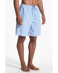 Polo Ralph Lauren | Blue Cotton Pajama Shorts for Men | Lyst